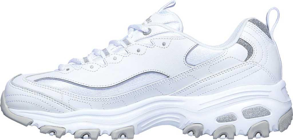 Women's Skechers D'Lites Soft Blossom Sneaker, White/Lavender, large, image 3