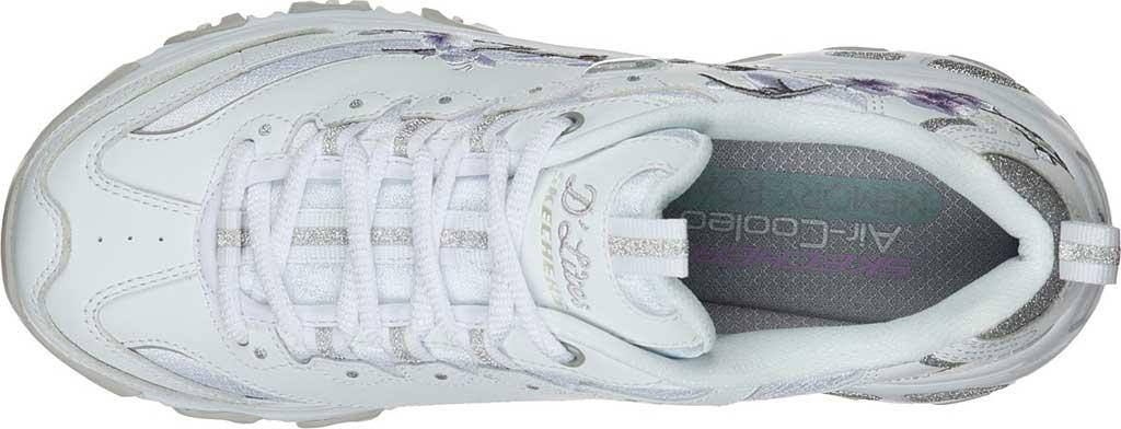 Women's Skechers D'Lites Soft Blossom Sneaker, White/Lavender, large, image 4