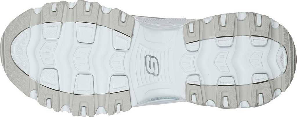 Women's Skechers D'Lites Soft Blossom Sneaker, White/Lavender, large, image 5