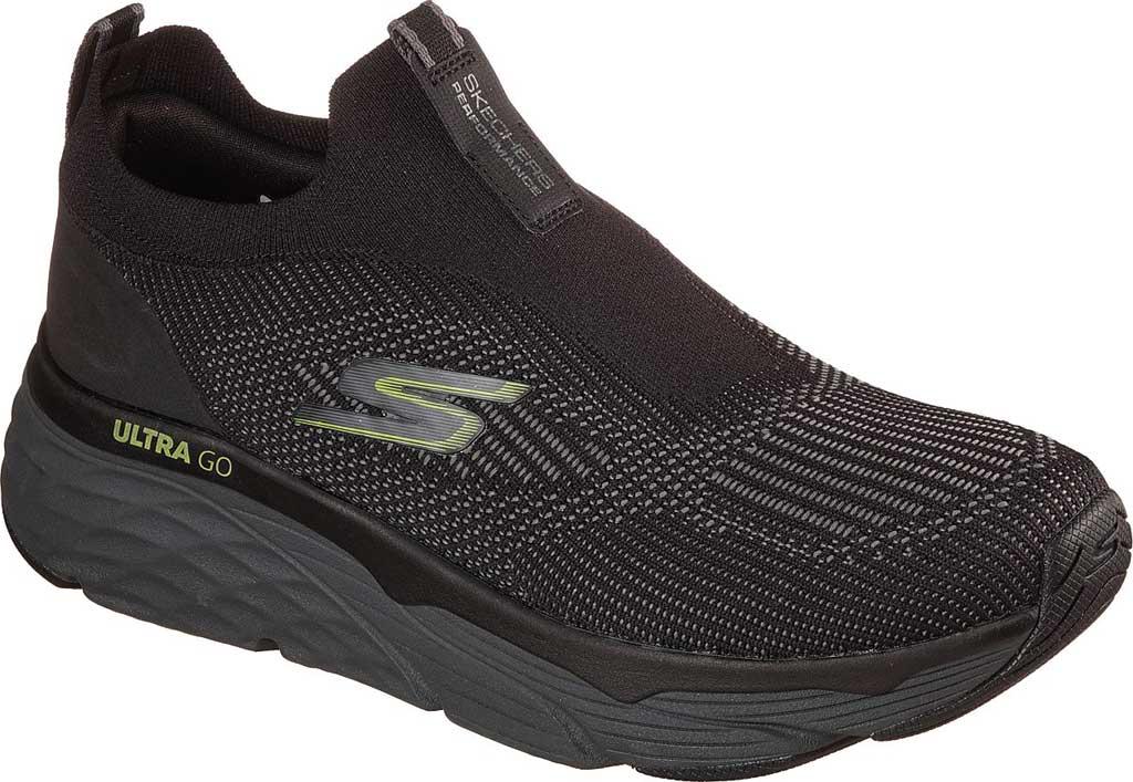 Men's Skechers Max Cushioning Elite Amplifier Sneaker, Black/Lime, large, image 1
