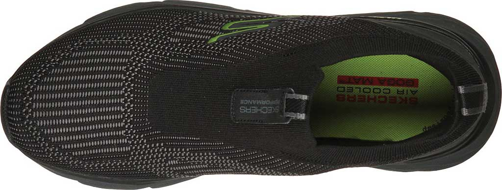 Men's Skechers Max Cushioning Elite Amplifier Sneaker, Black/Lime, large, image 4