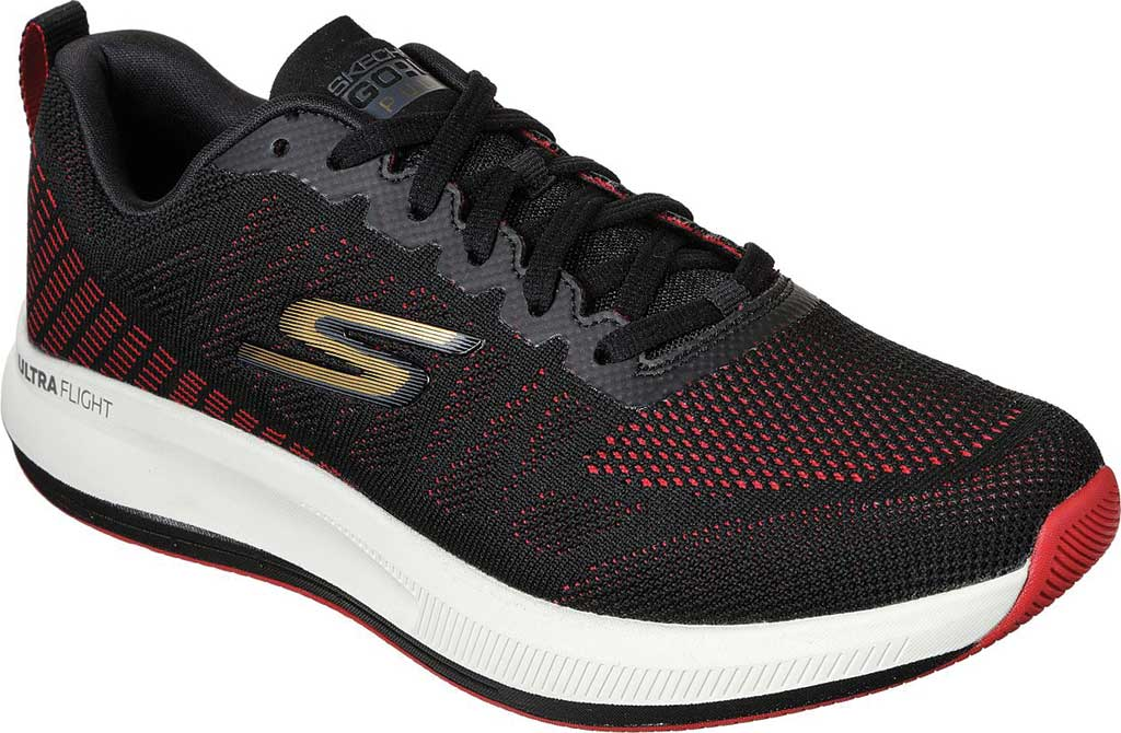 Men's Skechers GOrun Pulse Strada Sneaker, Black/Red, large, image 1
