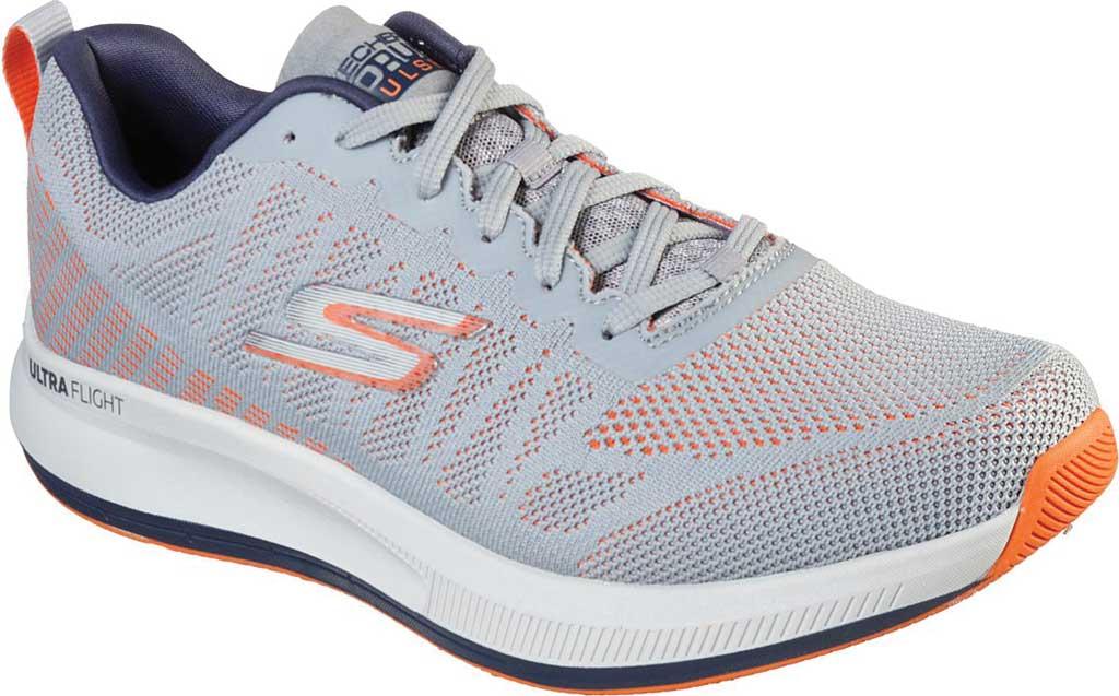 Men's Skechers GOrun Pulse Strada Sneaker, Gray/Orange, large, image 1