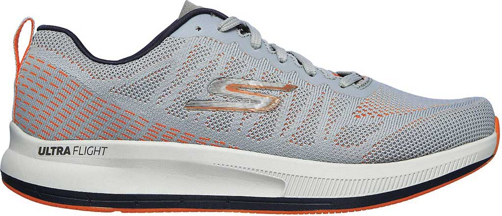 Men's Skechers GOrun Pulse Strada Sneaker, Gray/Orange, large, image 2