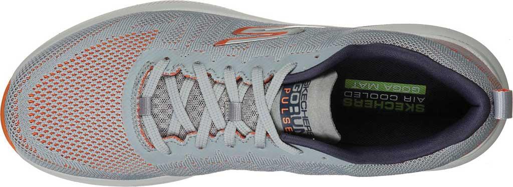 Men's Skechers GOrun Pulse Strada Sneaker, Gray/Orange, large, image 4