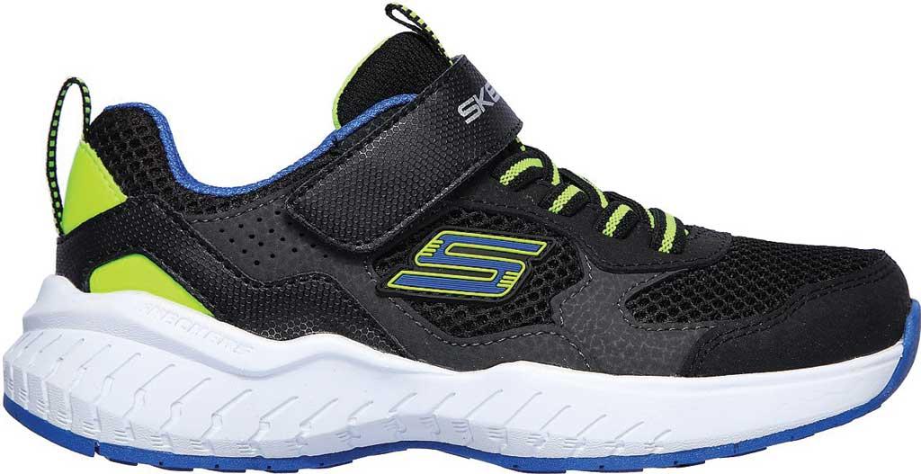 Boys' Skechers Power Sonic Anorzo Sneaker, Black/Blue/Lime, large, image 2