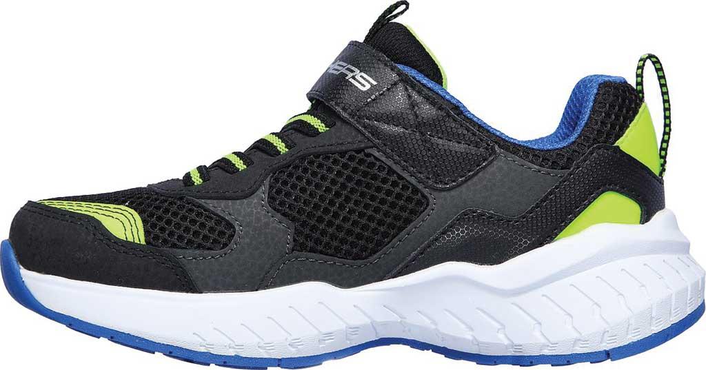 Boys' Skechers Power Sonic Anorzo Sneaker, Black/Blue/Lime, large, image 3
