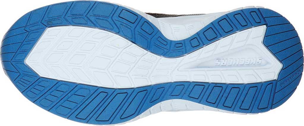 Boys' Skechers Power Sonic Anorzo Sneaker, Black/Blue/Lime, large, image 5