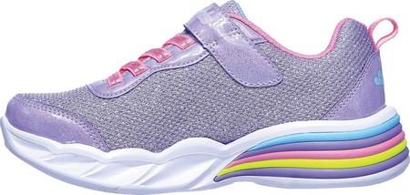 Girls' Skechers S Lights Sweetheart Lights Shimmer Spells Sneaker, Lavender/Multi, large, image 3