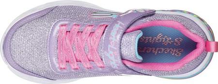 Girls' Skechers S Lights Sweetheart Lights Shimmer Spells Sneaker, Lavender/Multi, large, image 4
