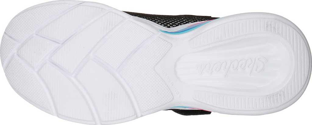 Girls' Skechers S Lights Sweetheart Lights Shimmer Spells Sneaker, Black/Multi, large, image 5