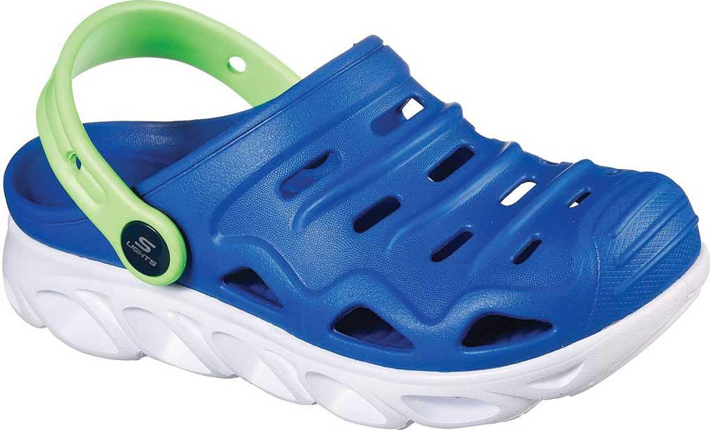 Boys' Skechers Foamies HypnoSplash Razder Clog, Blue/Lime, large, image 1