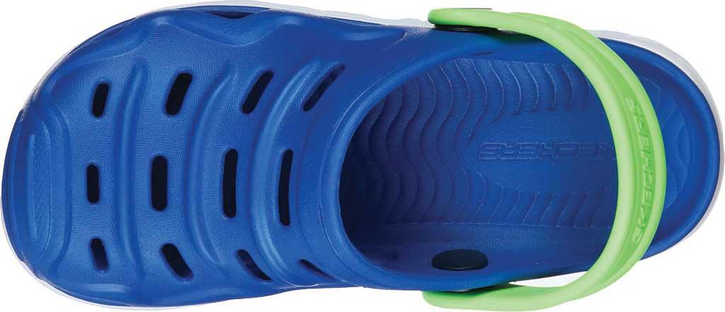 Boys' Skechers Foamies HypnoSplash Razder Clog, Blue/Lime, large, image 4