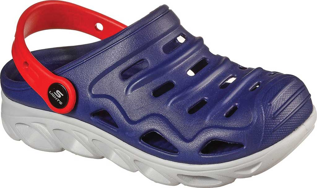 Boys' Skechers Foamies HypnoSplash Razder Clog, Navy/Red, large, image 1
