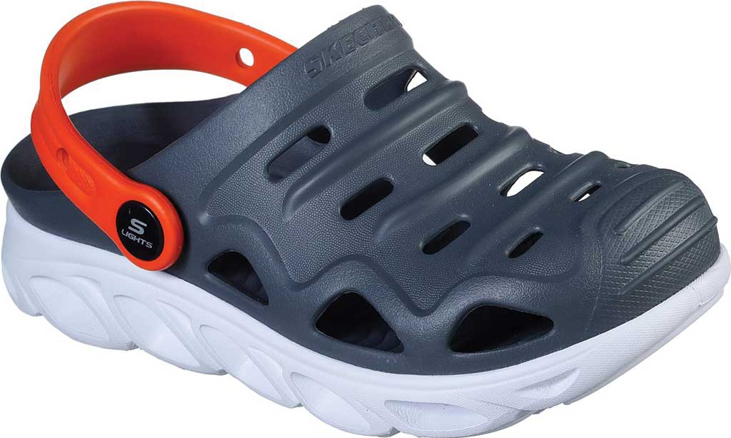 Boys' Skechers Foamies HypnoSplash Razder Clog, Charcoal, large, image 1