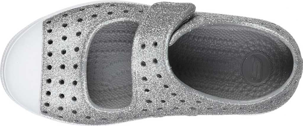 Infant Girls' Skechers Foamies Guzman Breeze Surf Spray Mary Jane, Gray, large, image 4