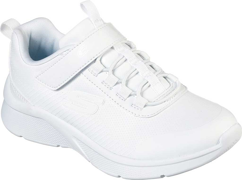 Girls' Skechers Microspec Classroom Cutie Sneaker, White, large, image 1