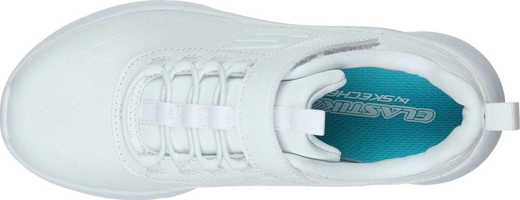 Girls' Skechers Microspec Classroom Cutie Sneaker, White, large, image 4