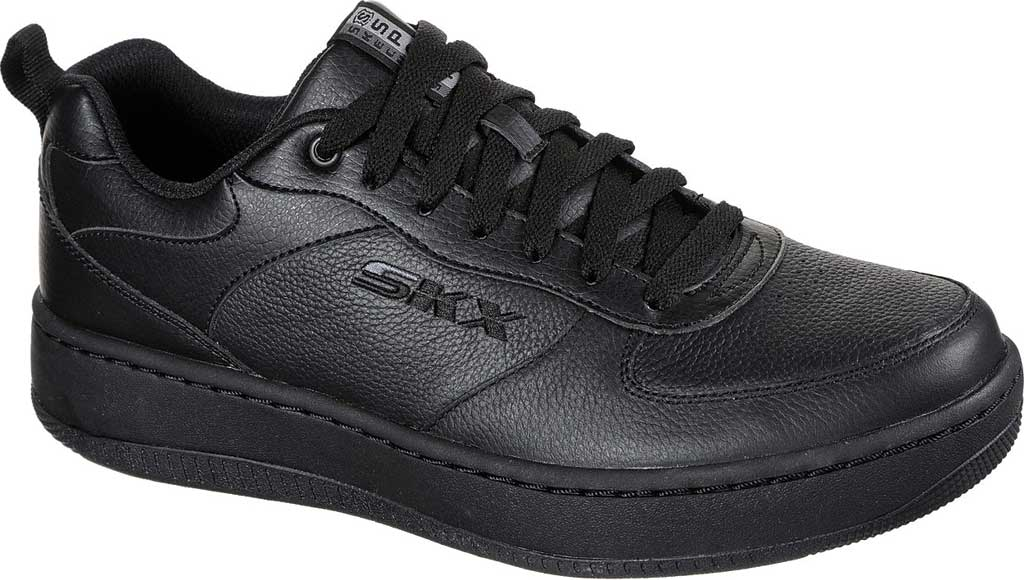 Men's Skechers Sport Court 92 Sneaker, Black/Black, large, image 1
