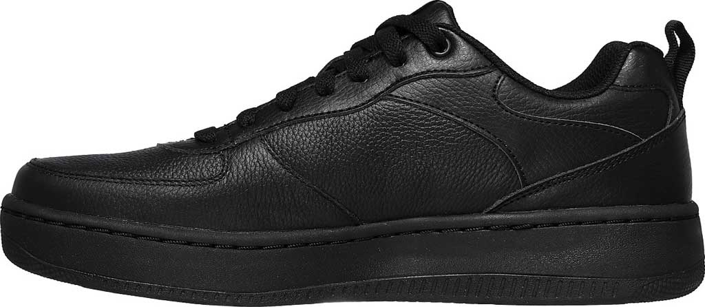 Men's Skechers Sport Court 92 Sneaker, Black/Black, large, image 3