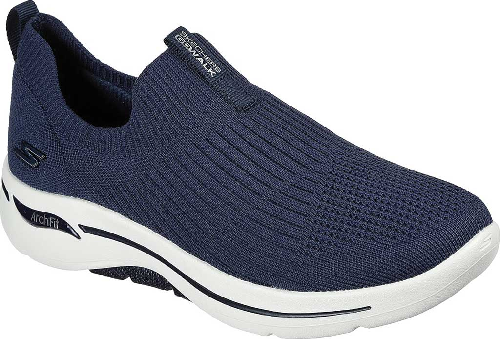 Women's Skechers GOwalk Arch Fit Iconic Slip-On, Navy, large, image 1