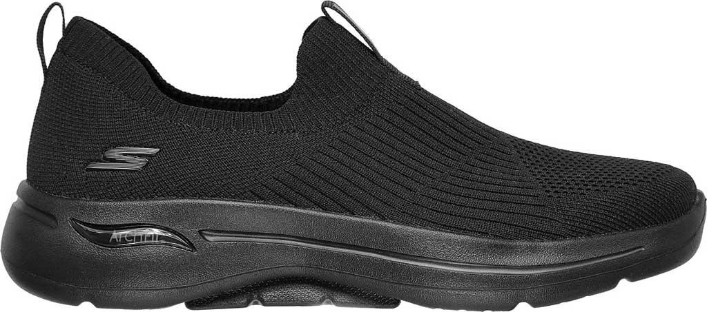 Women's Skechers GOwalk Arch Fit Iconic Slip-On, Black/Black, large, image 2
