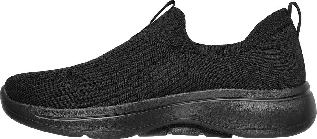Women's Skechers GOwalk Arch Fit Iconic Slip-On, Black/Black, large, image 3