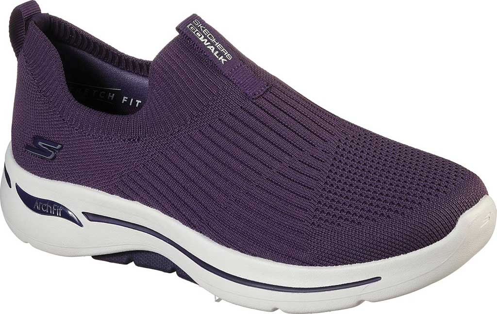 Women's Skechers GOwalk Arch Fit Iconic Slip-On, Purple, large, image 1