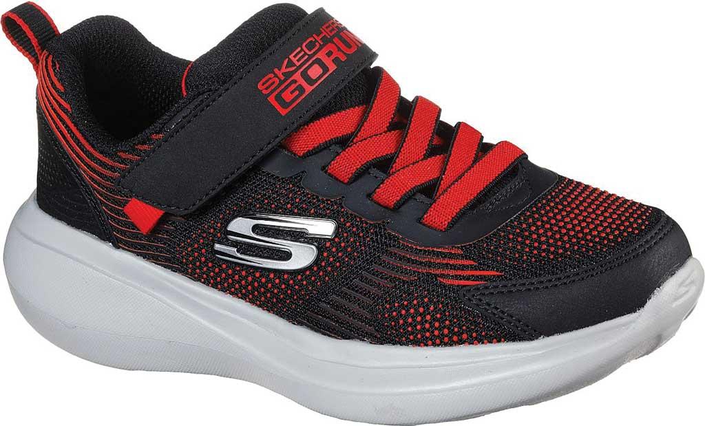 Boys' Skechers GOrun Fast Sprint Jam Sneaker, Black/Red, large, image 1