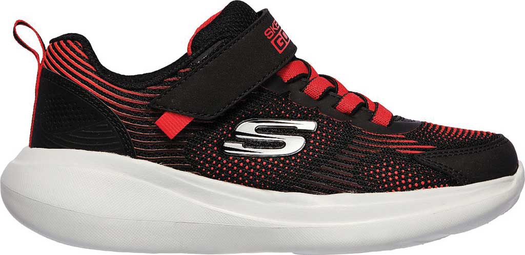 Boys' Skechers GOrun Fast Sprint Jam Sneaker, Black/Red, large, image 2