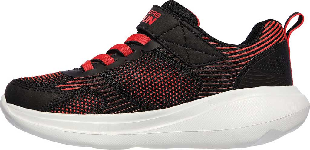 Boys' Skechers GOrun Fast Sprint Jam Sneaker, Black/Red, large, image 3