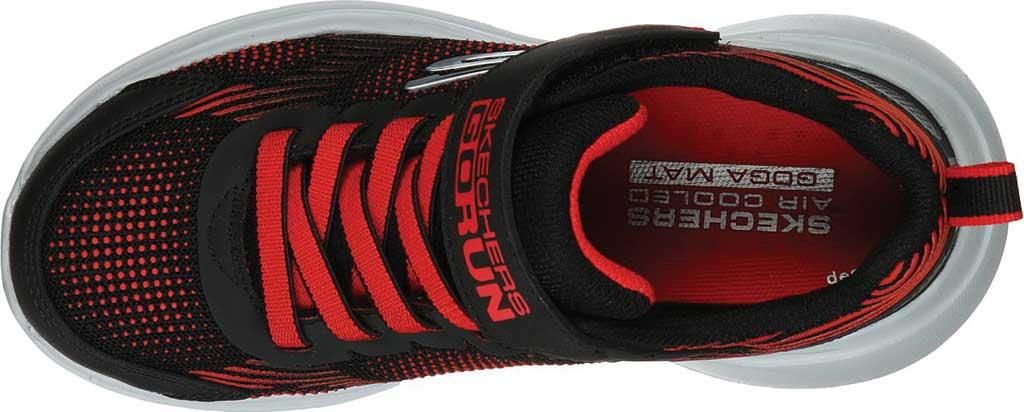 Boys' Skechers GOrun Fast Sprint Jam Sneaker, Black/Red, large, image 4