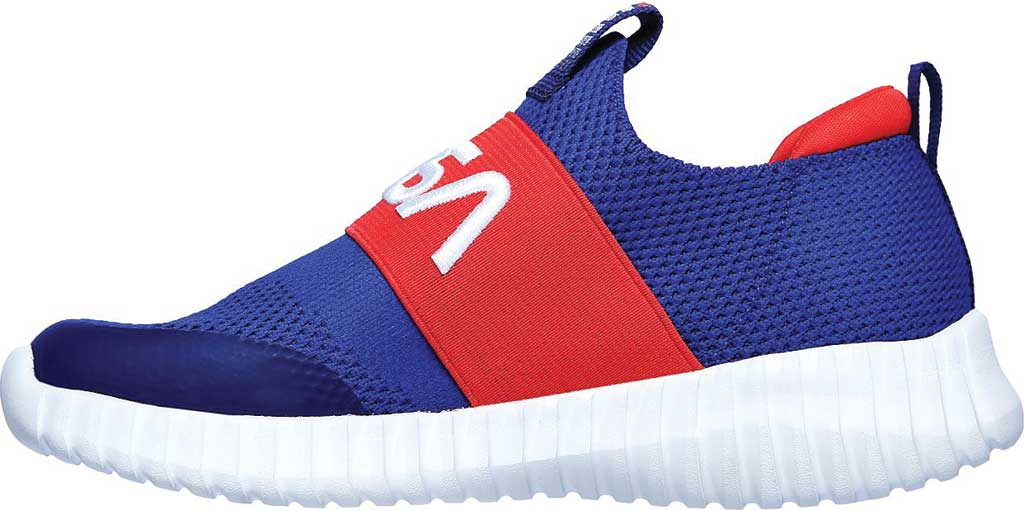 Boys' Skechers NASA Elite Flex Retro Rocket Sneaker, Blue/Red, large, image 3