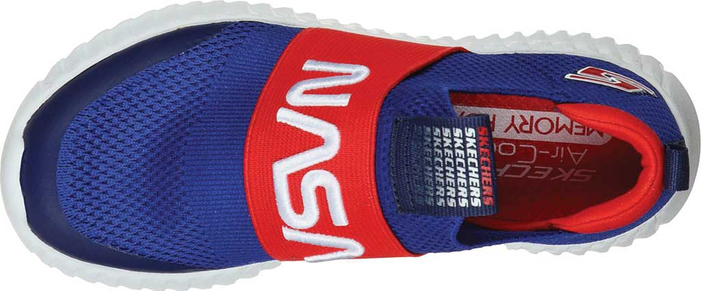 Boys' Skechers NASA Elite Flex Retro Rocket Sneaker, Blue/Red, large, image 4