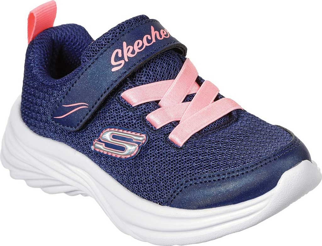 Infant Girls' Skechers Dreamy Dancer Miss Minimalistic Sneaker, Navy/Coral, large, image 1