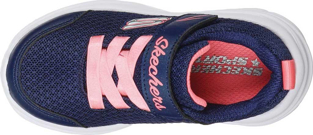 Infant Girls' Skechers Dreamy Dancer Miss Minimalistic Sneaker, Navy/Coral, large, image 4