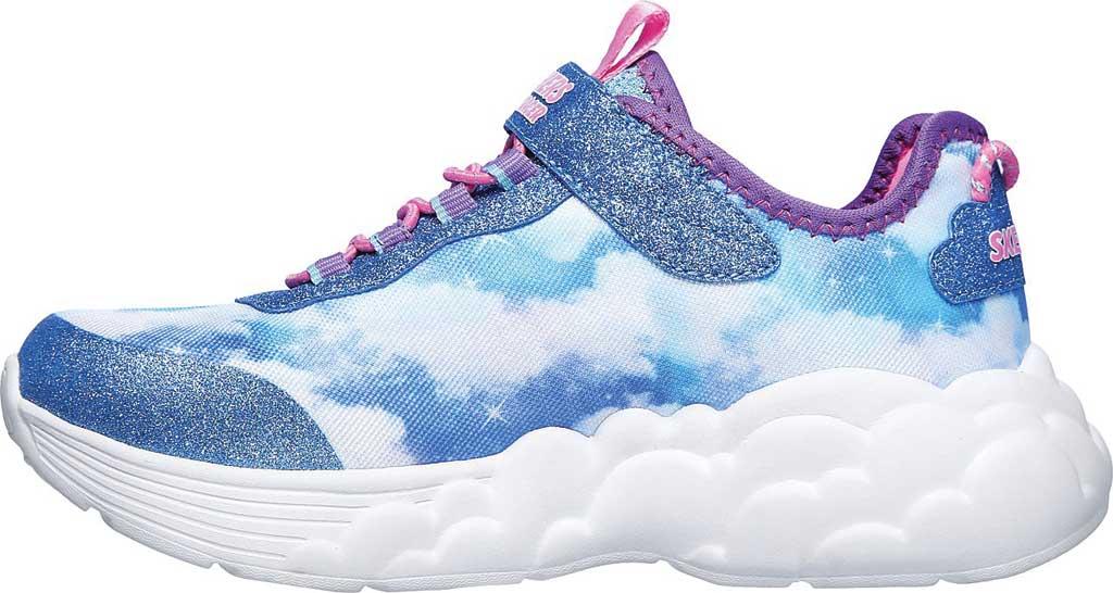 Girls' Skechers S Lights Rainbow Racer Sneaker, Blue, large, image 3