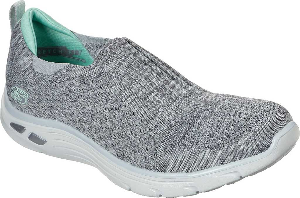 Women's Skechers Relaxed Fit Empire D'Lux Sweet Pearl Slip-On, Gray, large, image 1