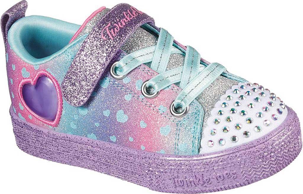 Infant Girls' Skechers Twinkle Toes Shuffle Lite Lil Heartbursts Sneaker, Lavender/Multi, large, image 1
