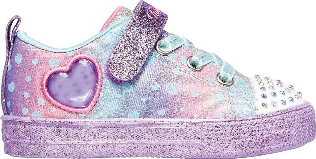 Infant Girls' Skechers Twinkle Toes Shuffle Lite Lil Heartbursts Sneaker, Lavender/Multi, large, image 2