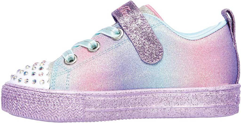 Infant Girls' Skechers Twinkle Toes Shuffle Lite Lil Heartbursts Sneaker, Lavender/Multi, large, image 3