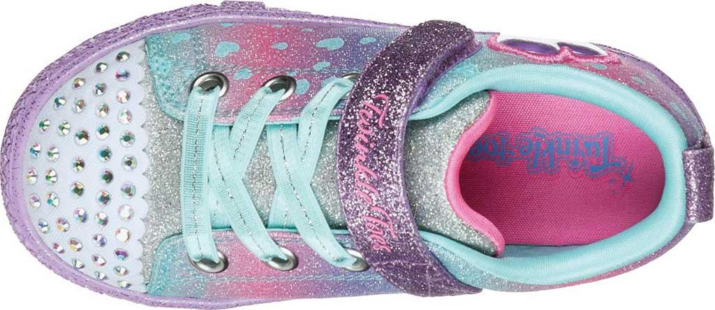Infant Girls' Skechers Twinkle Toes Shuffle Lite Lil Heartbursts Sneaker, Lavender/Multi, large, image 4