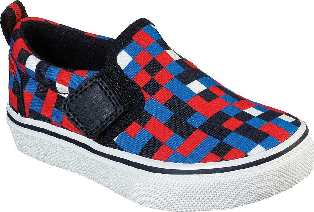 Infant Boys' Skechers SkechCraft Street Fame Zamblox Slip-On, Red/Blue, large, image 1