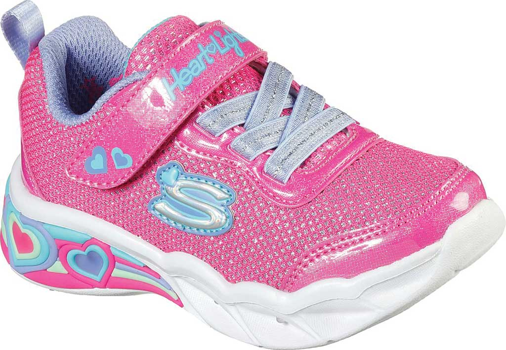 Infant Girls' Skechers S Lights Sweetheart Lights Shimmer Spells Sneaker, Pink/Multi, large, image 1