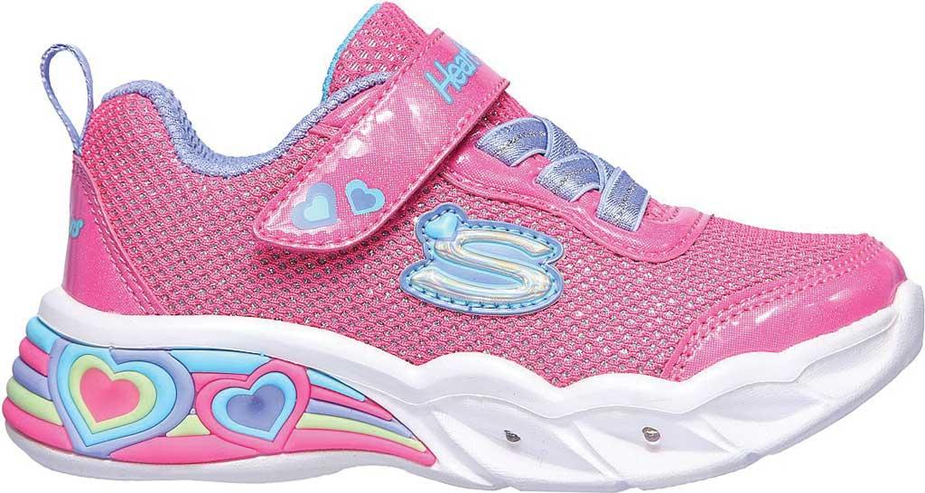 Infant Girls' Skechers S Lights Sweetheart Lights Shimmer Spells Sneaker, Pink/Multi, large, image 2