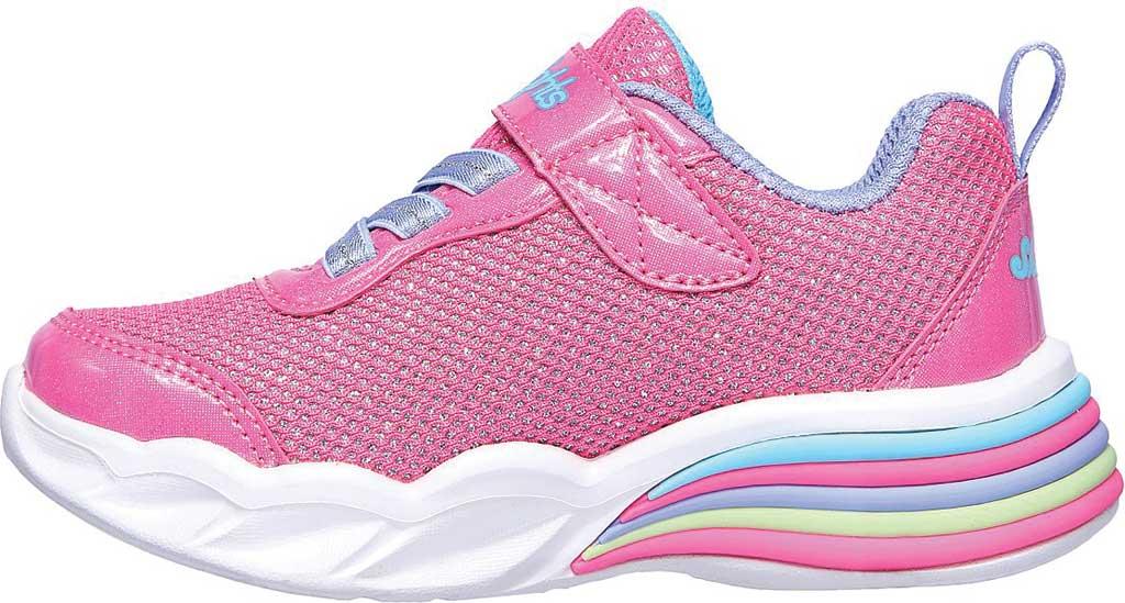 Infant Girls' Skechers S Lights Sweetheart Lights Shimmer Spells Sneaker, Pink/Multi, large, image 3