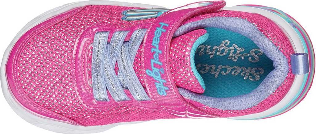 Infant Girls' Skechers S Lights Sweetheart Lights Shimmer Spells Sneaker, Pink/Multi, large, image 4