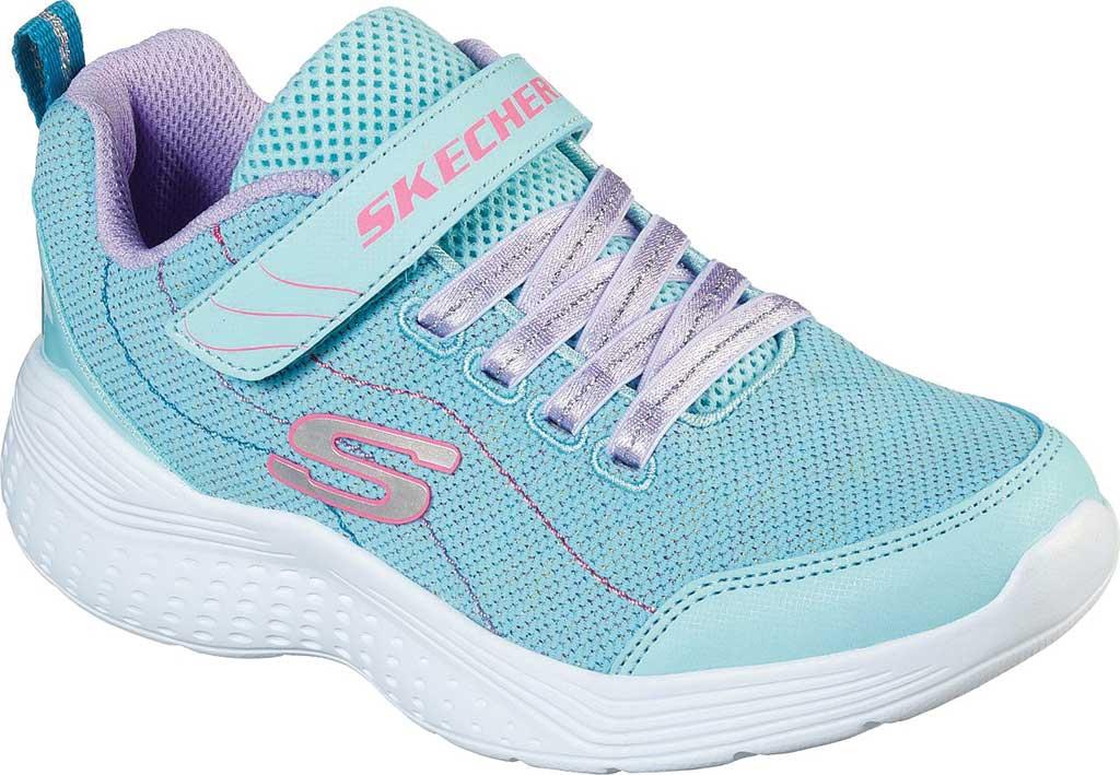Girls' Skechers Snap Sprints Electric Dash Sneaker, Aqua/Purple, large, image 1