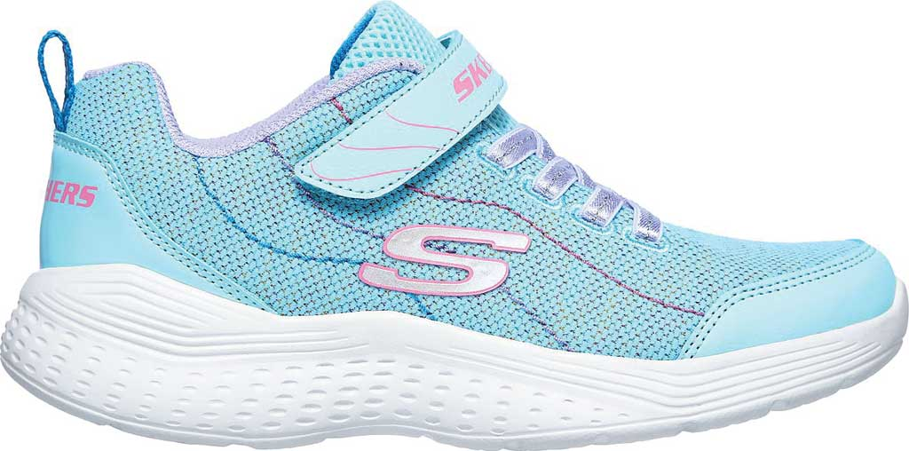 Girls' Skechers Snap Sprints Electric Dash Sneaker, Aqua/Purple, large, image 2