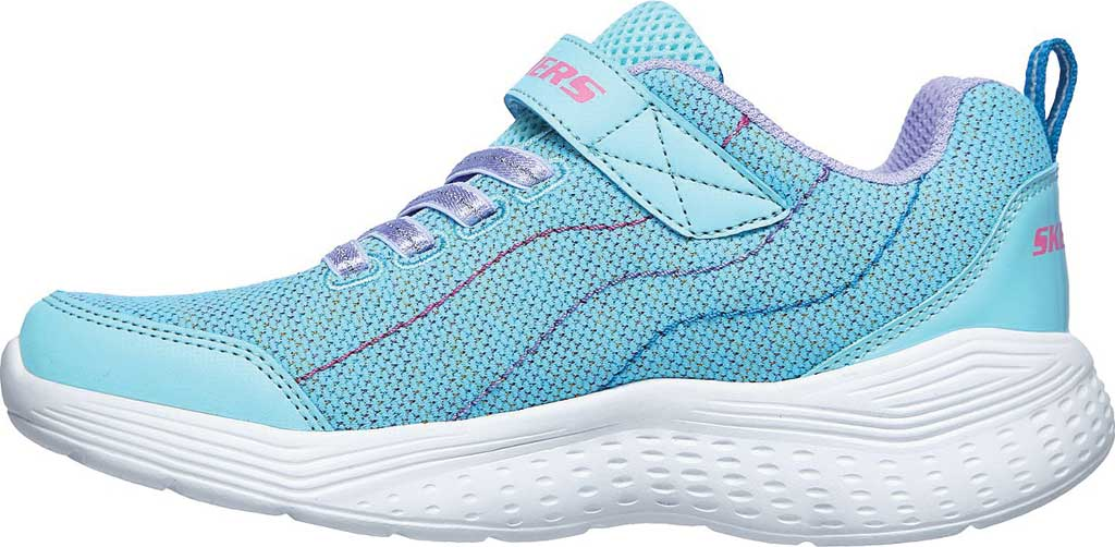 Girls' Skechers Snap Sprints Electric Dash Sneaker, Aqua/Purple, large, image 3